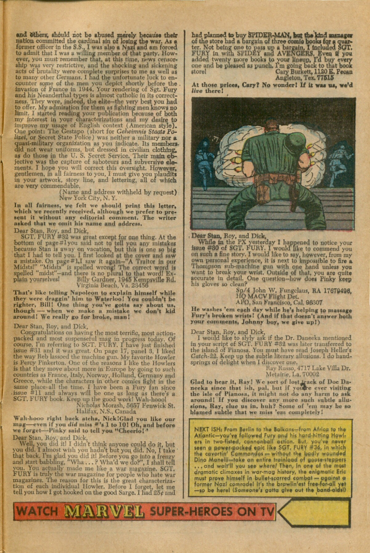 Read online Sgt. Fury comic -  Issue #35 - 33