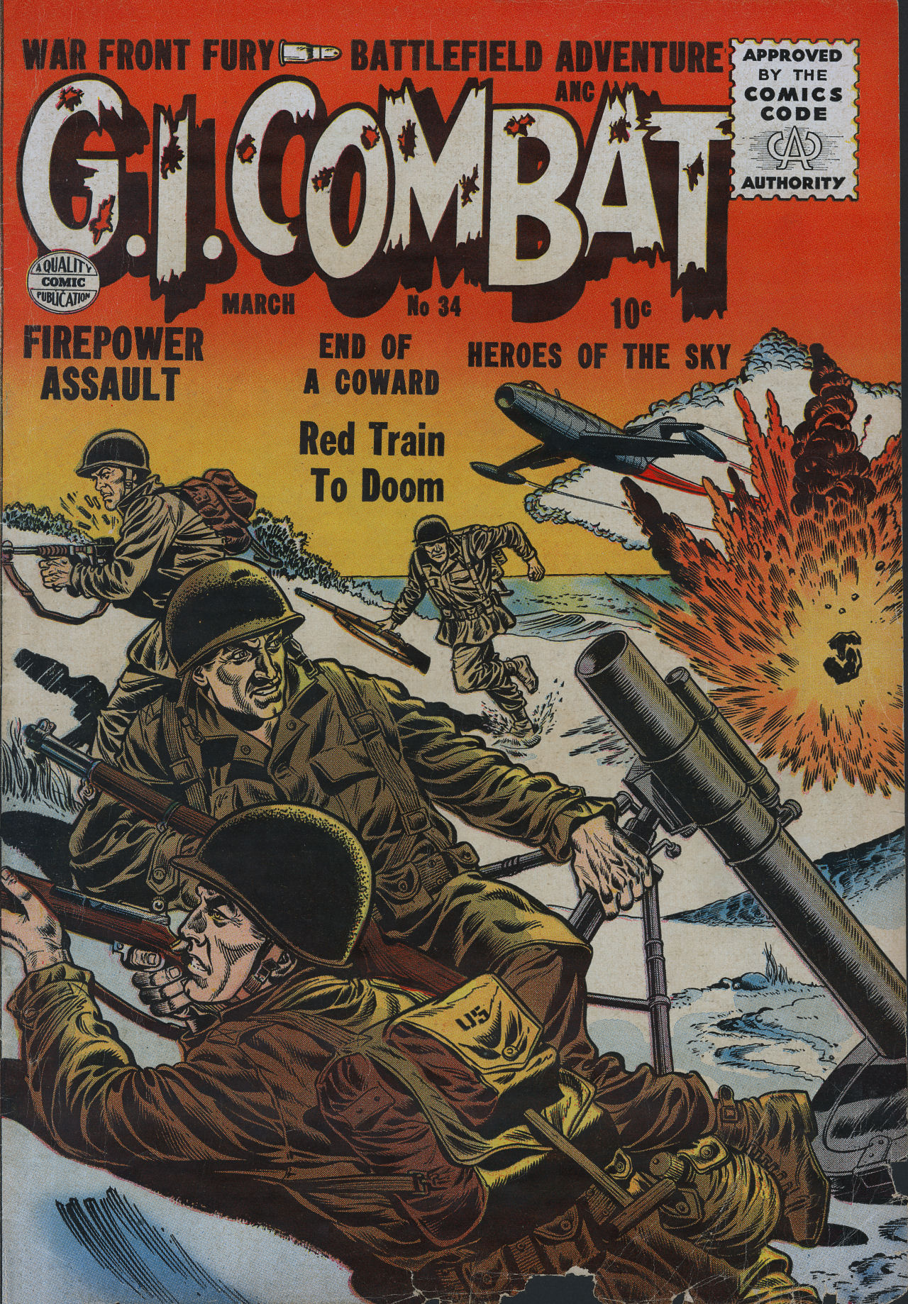 G.I. Combat (1952) 34 Page 1