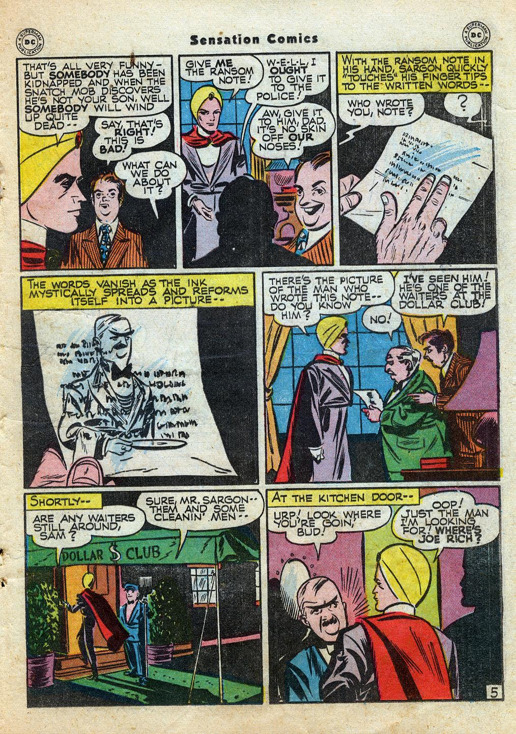 Read online Sensation (Mystery) Comics comic -  Issue #60 - 29