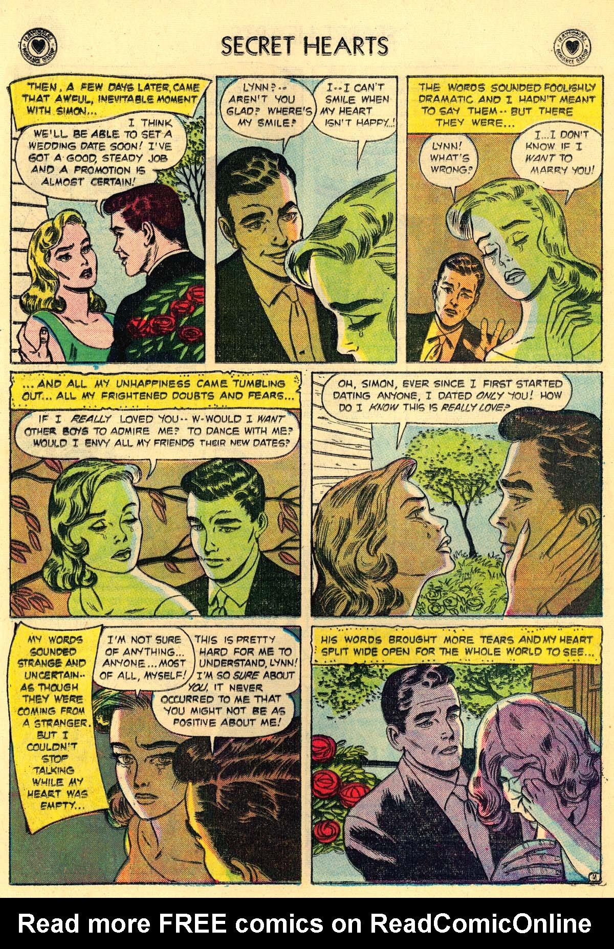 Read online Secret Hearts comic -  Issue #43 - 20