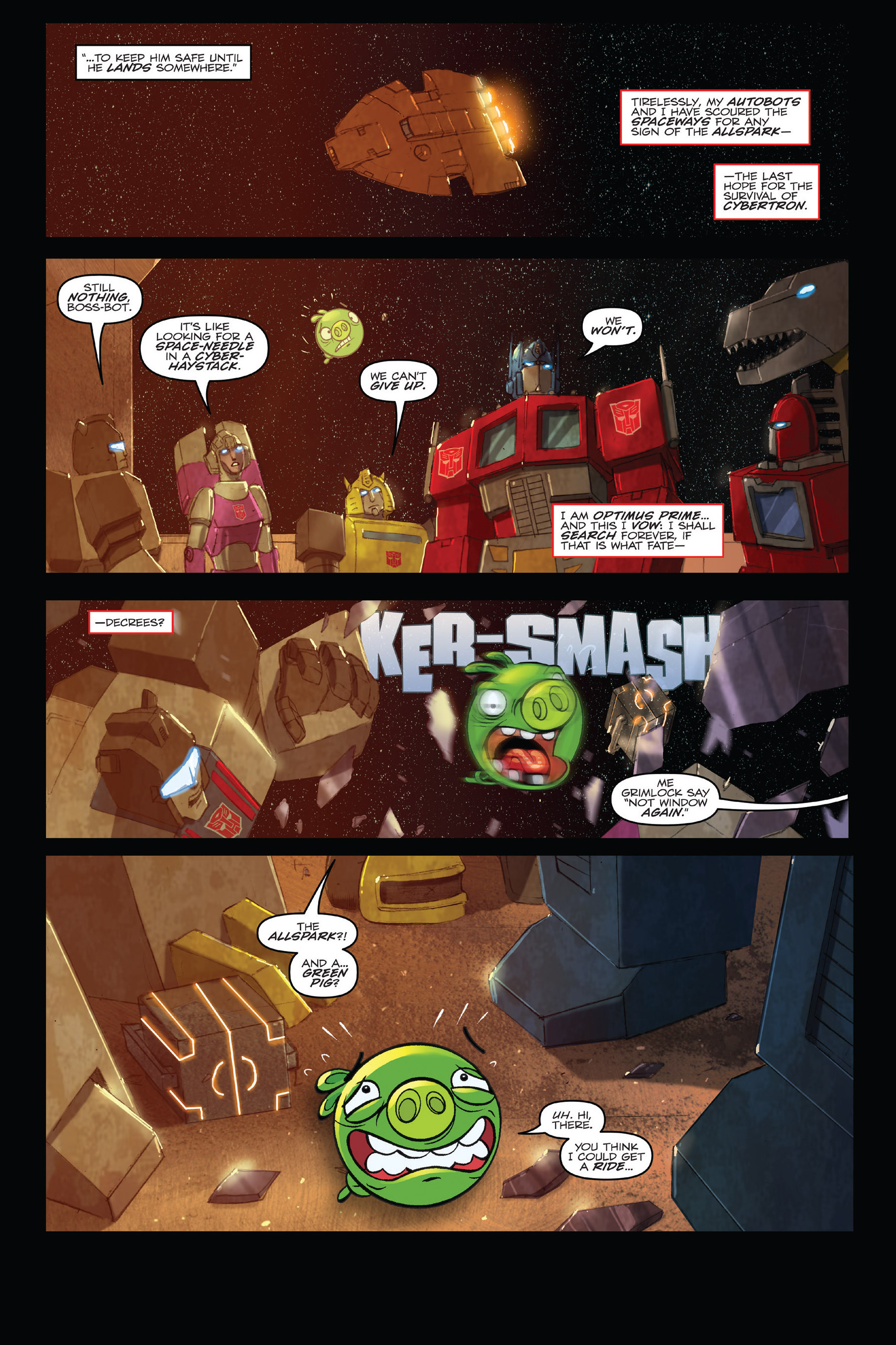 Read online Angry Birds Transformers: Age of Eggstinction comic -  Issue # Full - 88