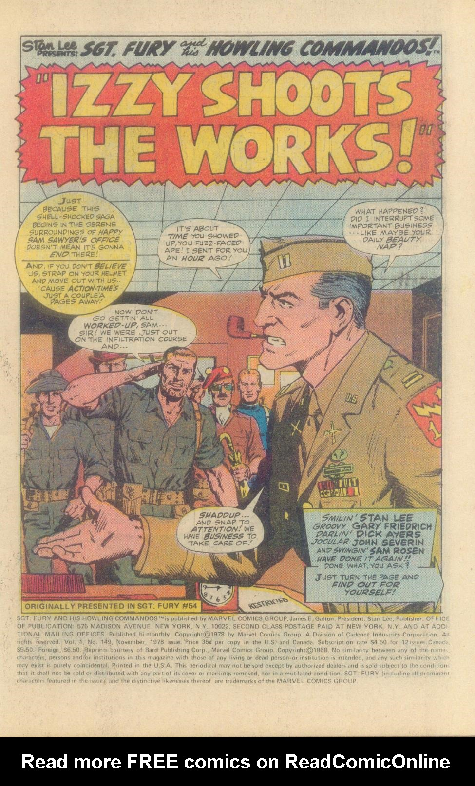 Read online Sgt. Fury comic -  Issue #149 - 3