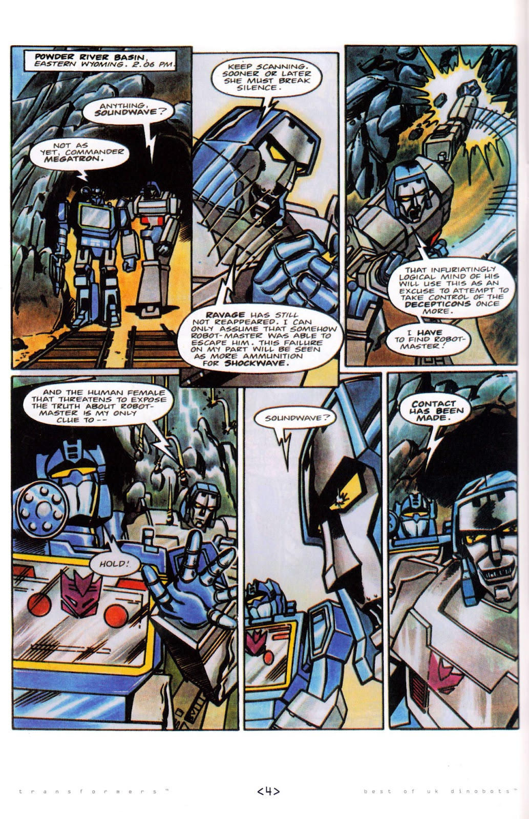 Read online The Transformers: Best of UK: Dinobots comic -  Issue #5 - 6