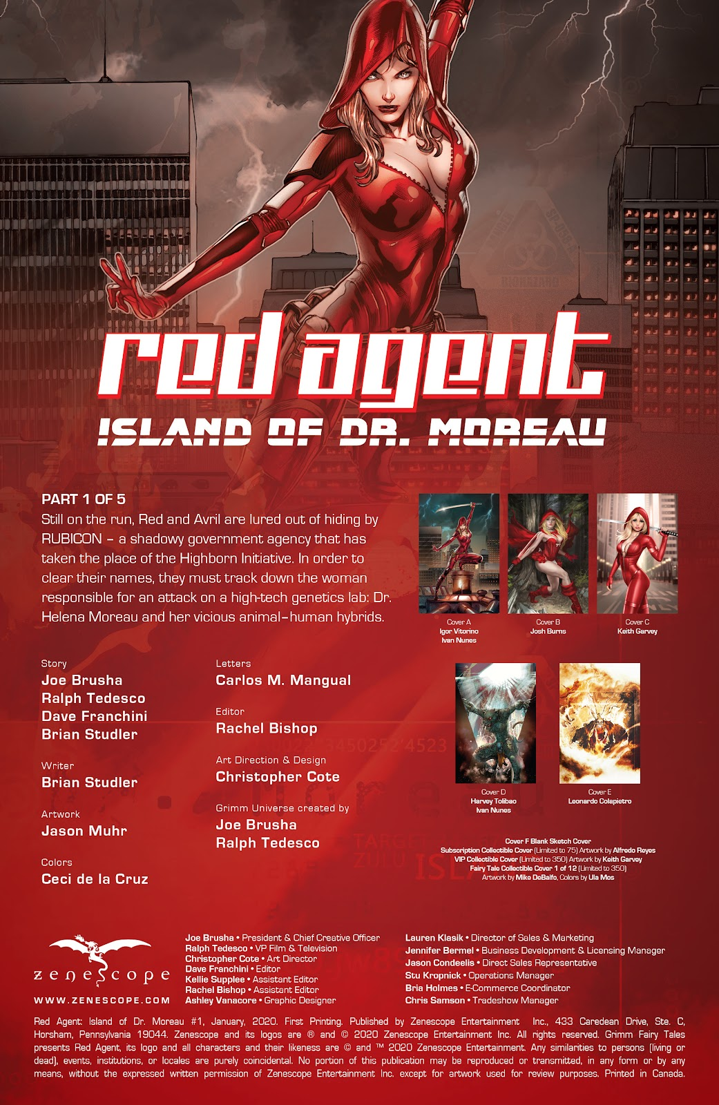 Read online Red Agent: Island of Dr Moreau comic -  Issue #1 - 2