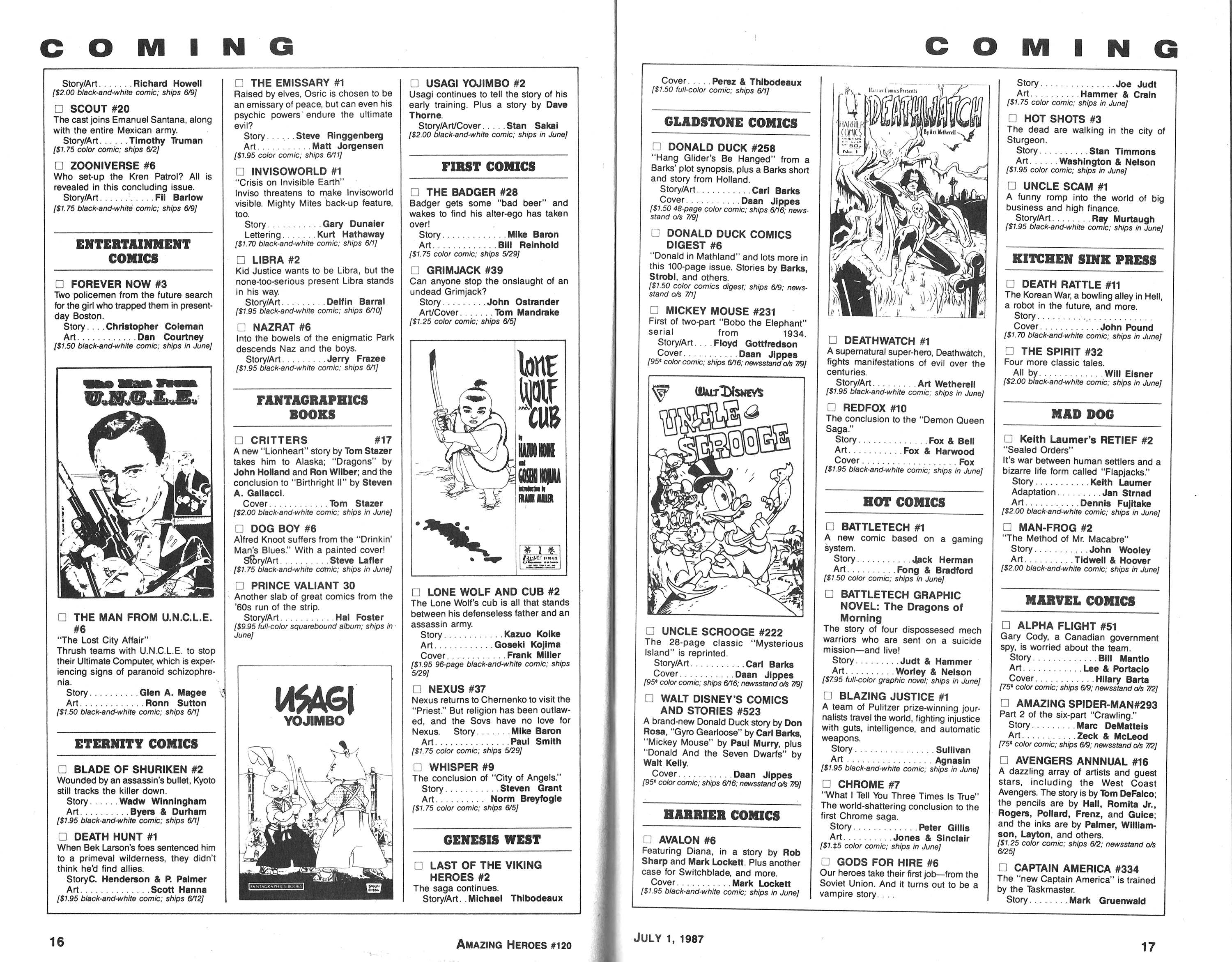 Read online Amazing Heroes comic -  Issue #120 - 9