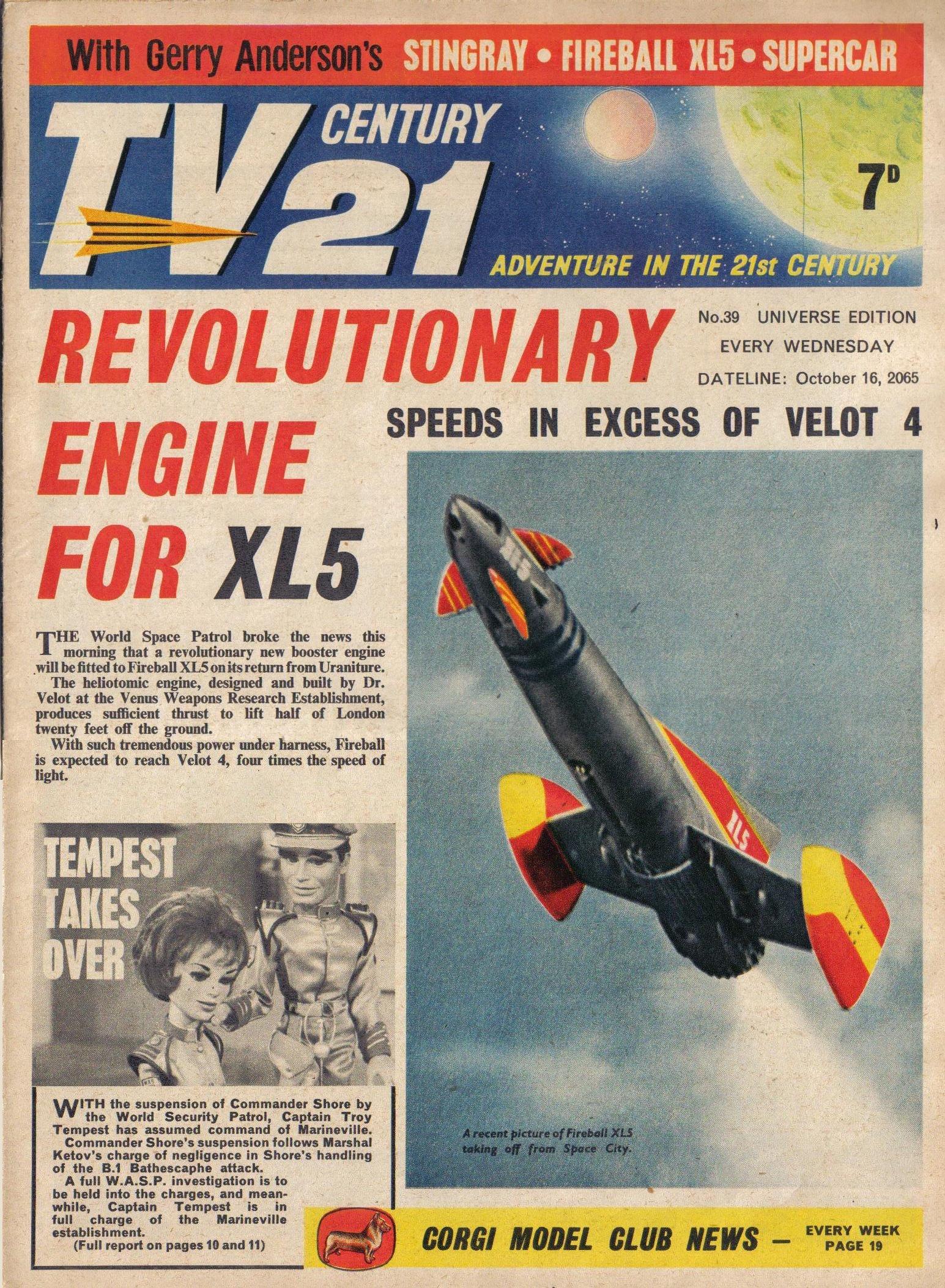 Read online TV Century 21 (TV 21) comic -  Issue #39 - 1