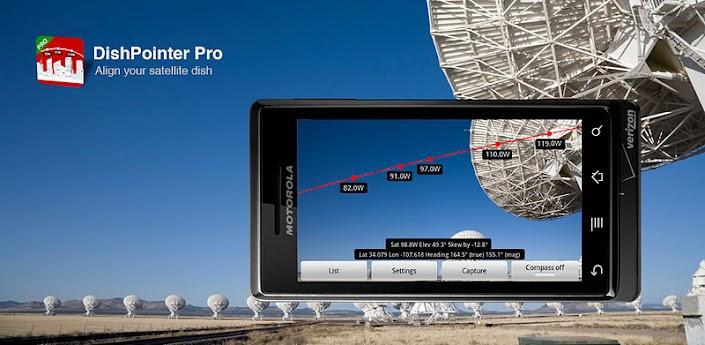 Descarga Dishpointer Pro Y Satfinder Pro Encuentra Satelites Para Los Decos Televisi 243 N Digital