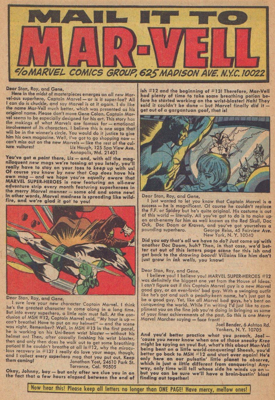 Captain Marvel (1968) Issue #3 #3 - English 23