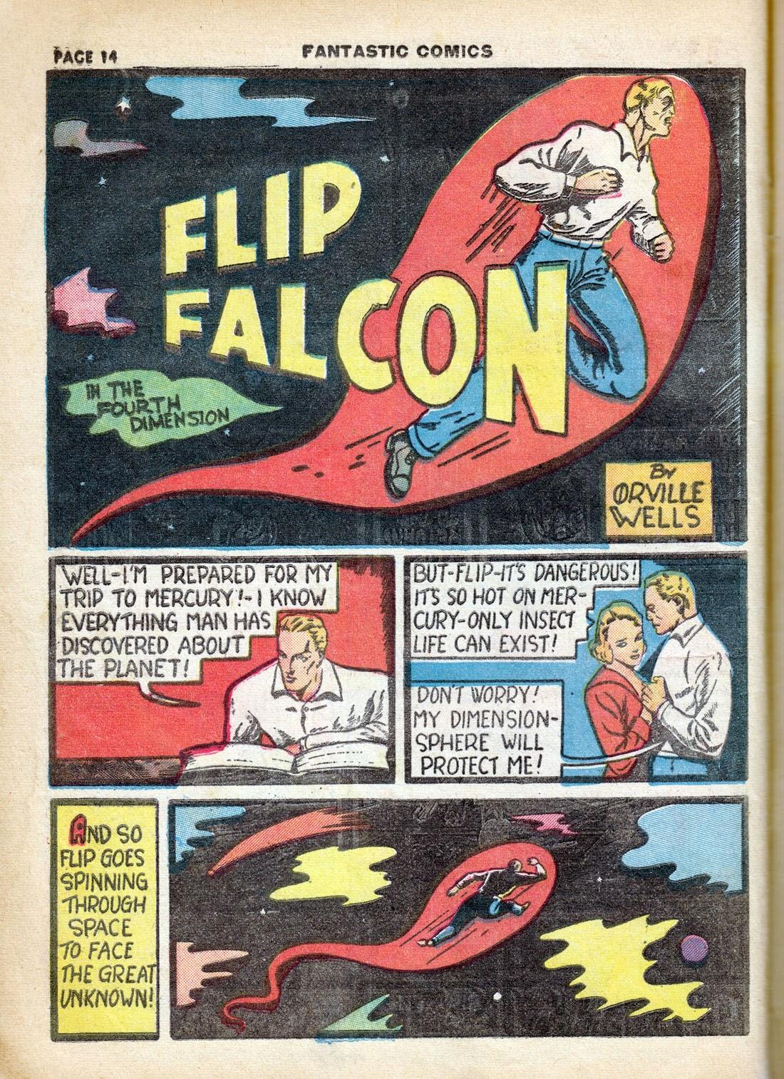 Read online Fantastic Comics comic -  Issue #7 - 16
