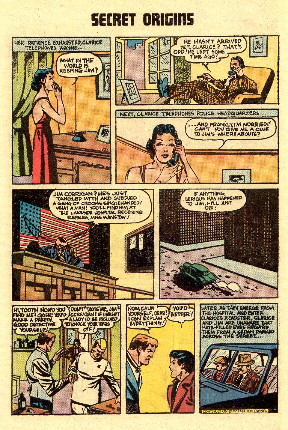 Read online Secret Origins (1973) comic -  Issue #5 - 6