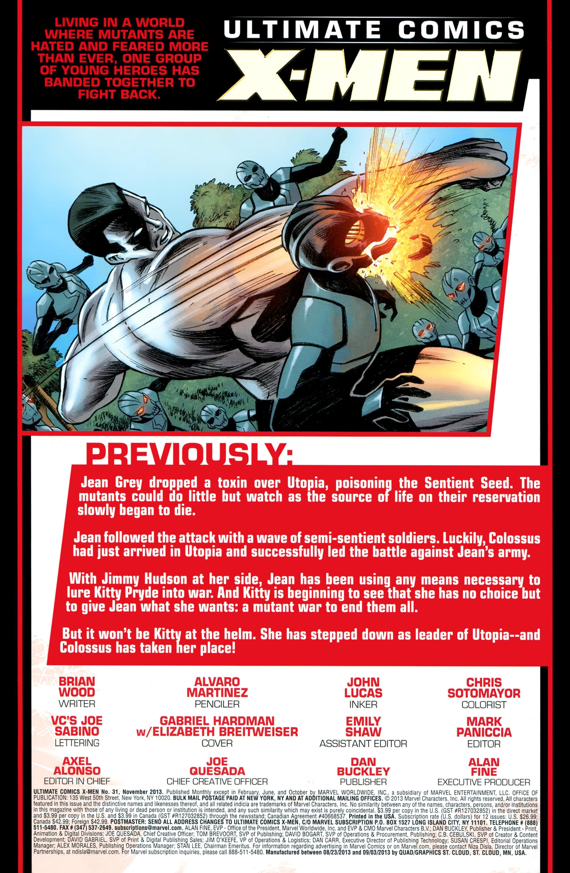 Read online Ultimate Comics X-Men comic -  Issue #31 - 2