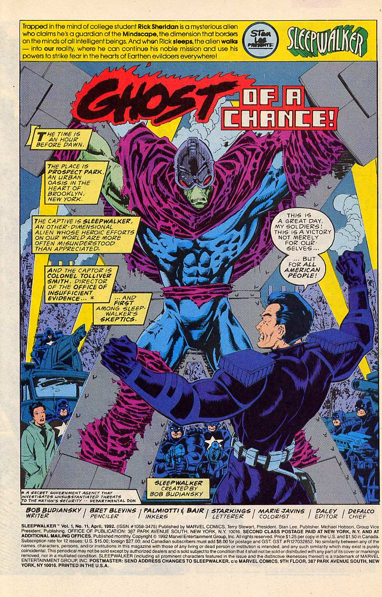 Read online Sleepwalker comic -  Issue #11 - 2