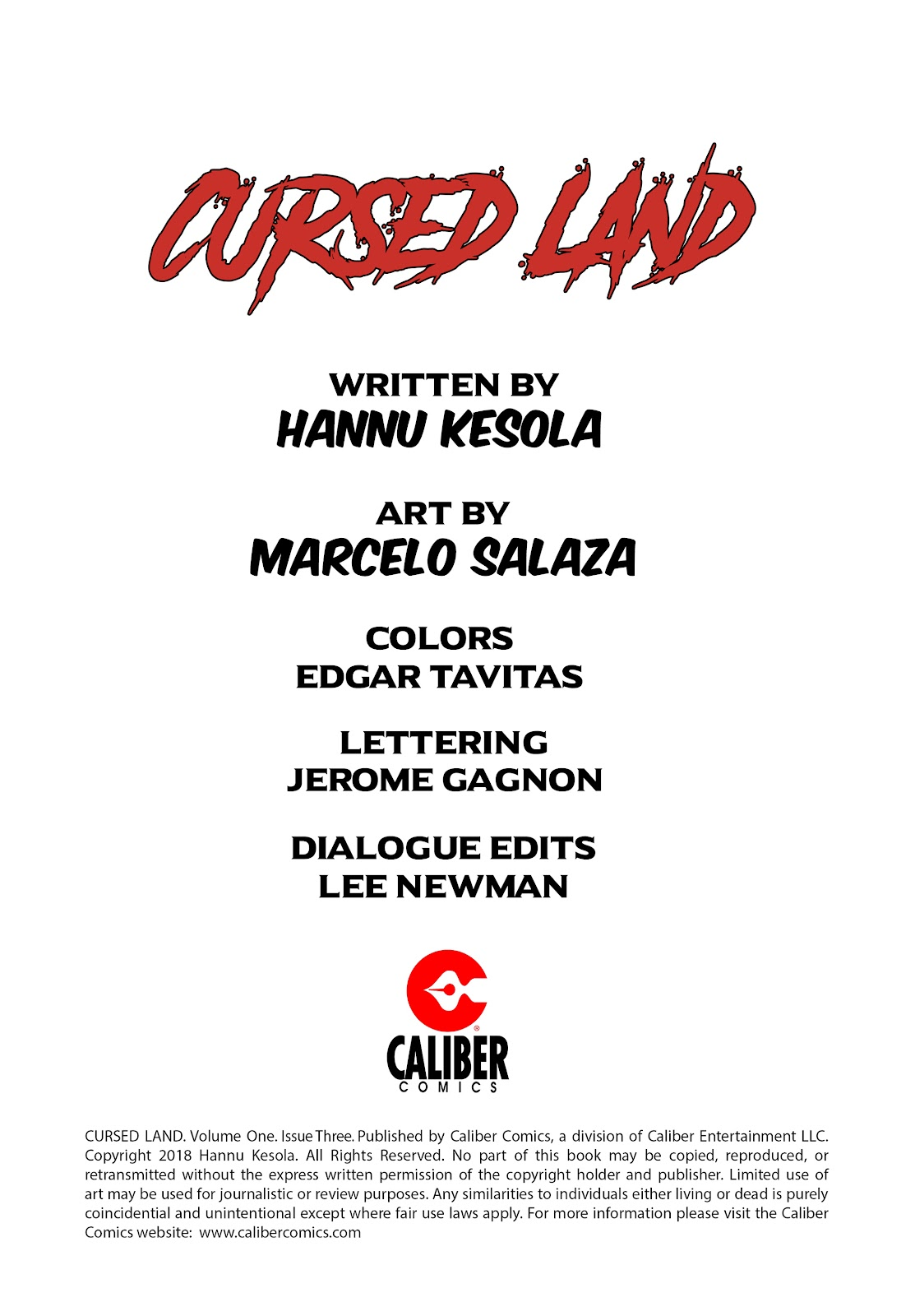 Read online Cursed Land comic -  Issue #3 - 2