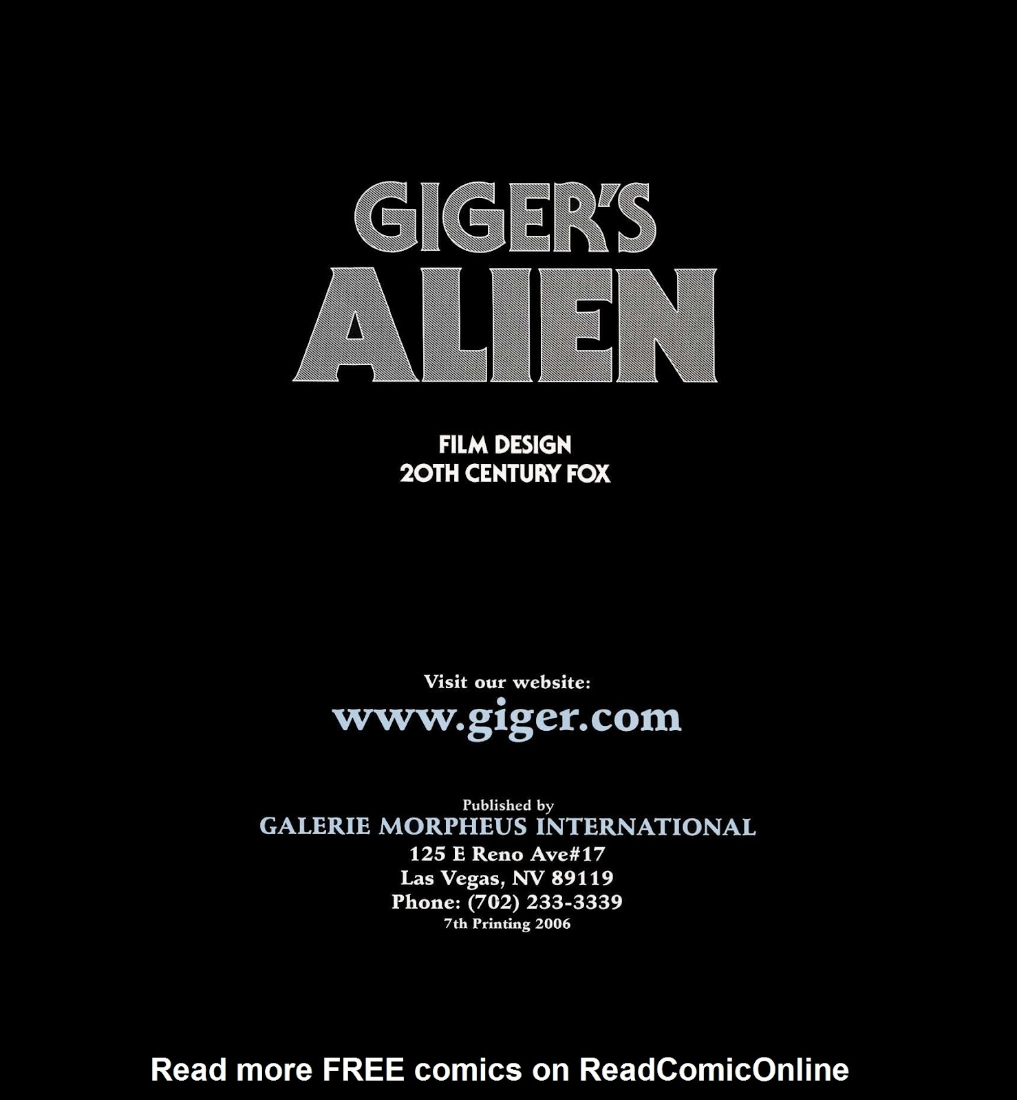 Read online Giger's Alien comic -  Issue # TPB - 3