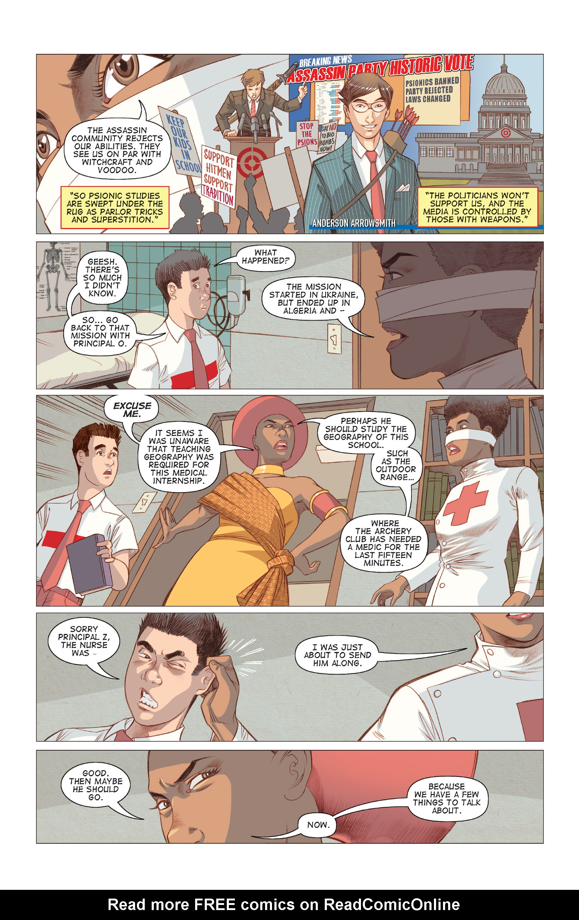 Read online Five Weapons comic -  Issue #7 - 14