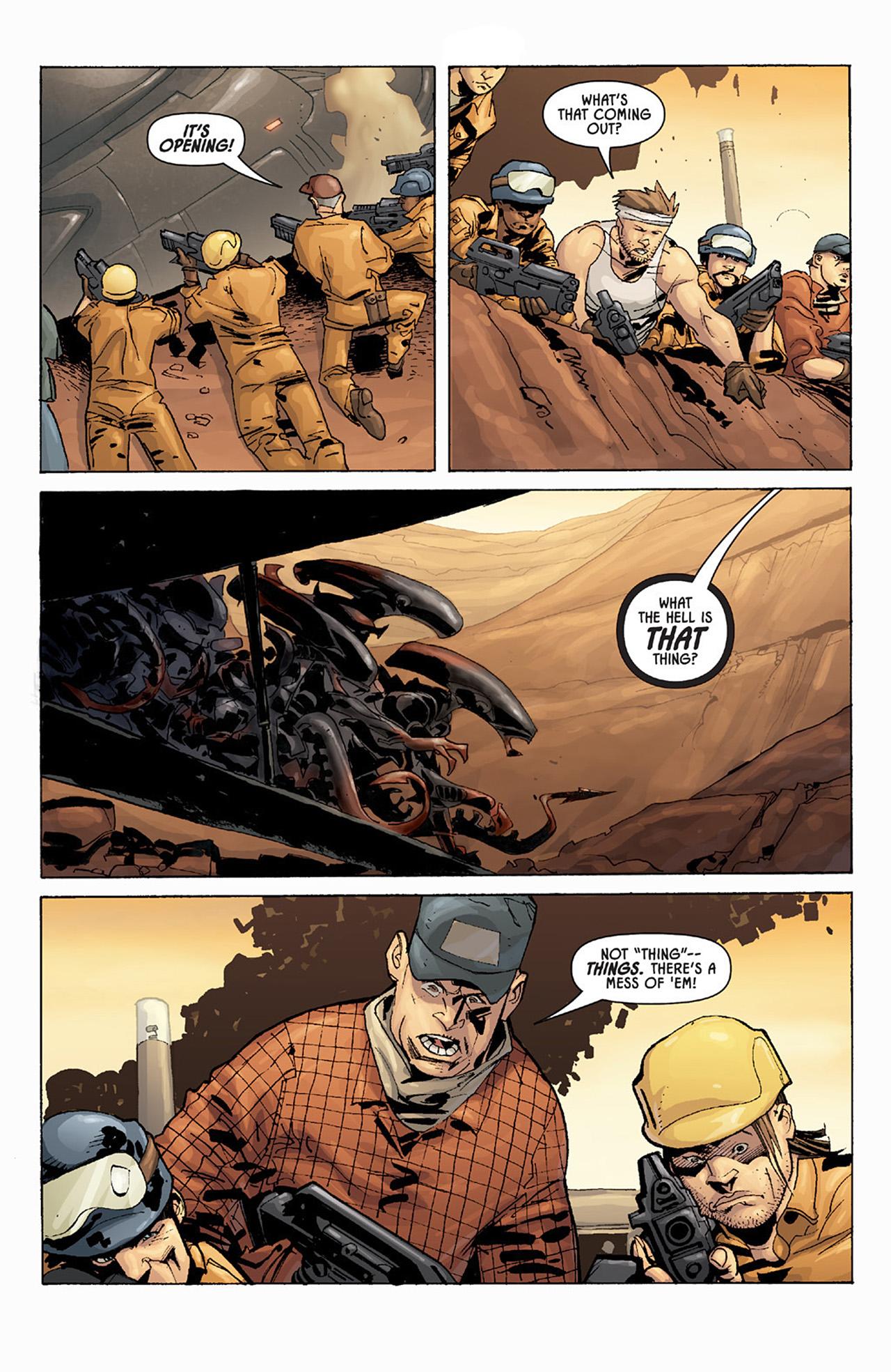 Read online Aliens vs. Predator: Three World War comic -  Issue #1 - 7