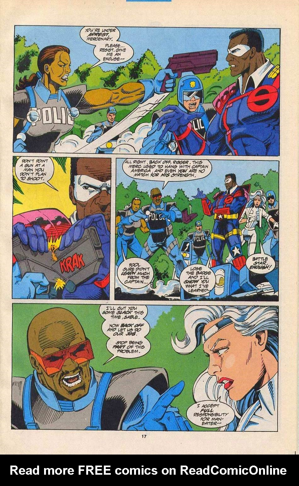 Read online Silver Sable and the Wild Pack comic -  Issue #27 - 14