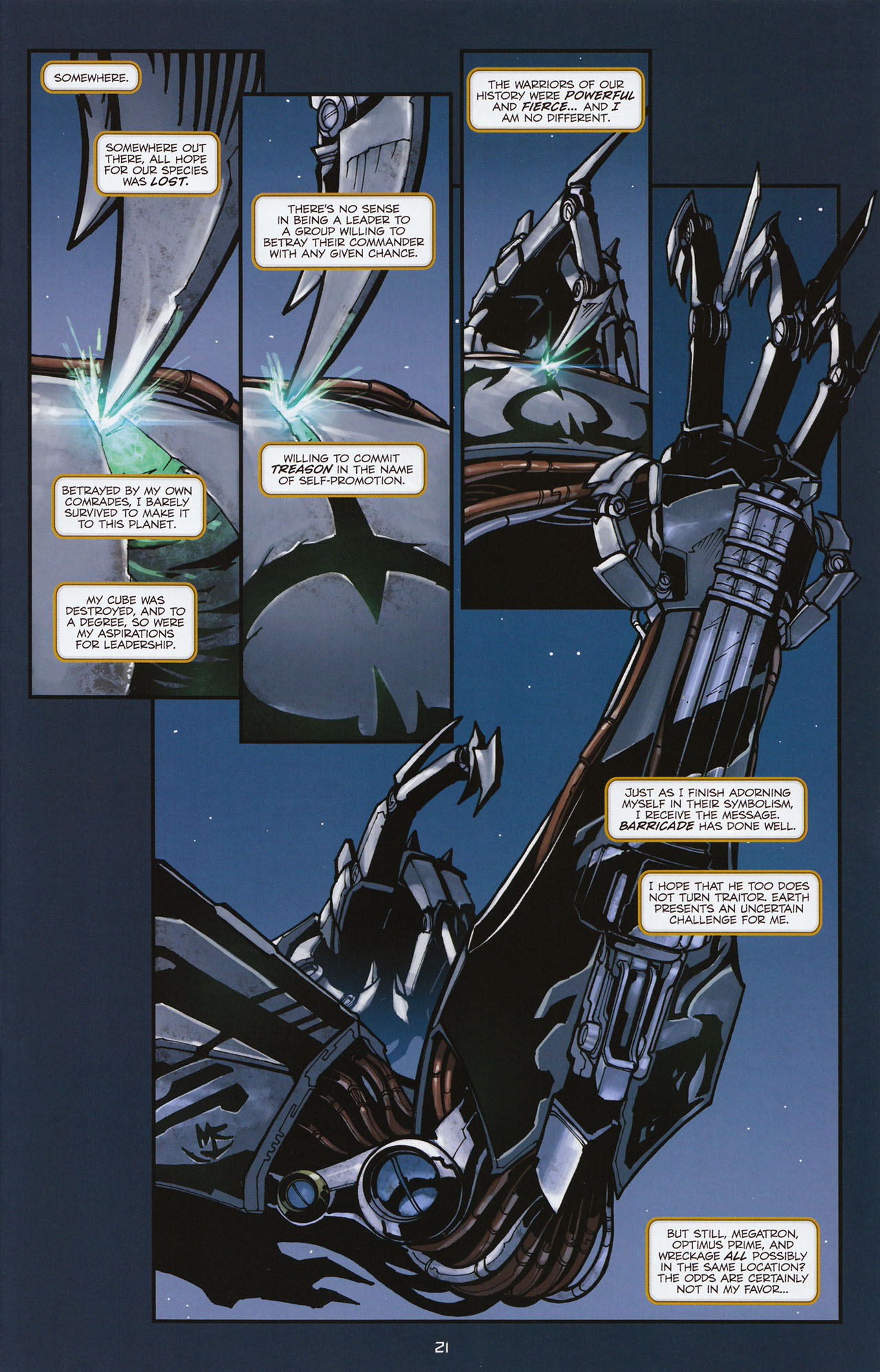 Read online Transformers: Alliance comic -  Issue #1 - 24