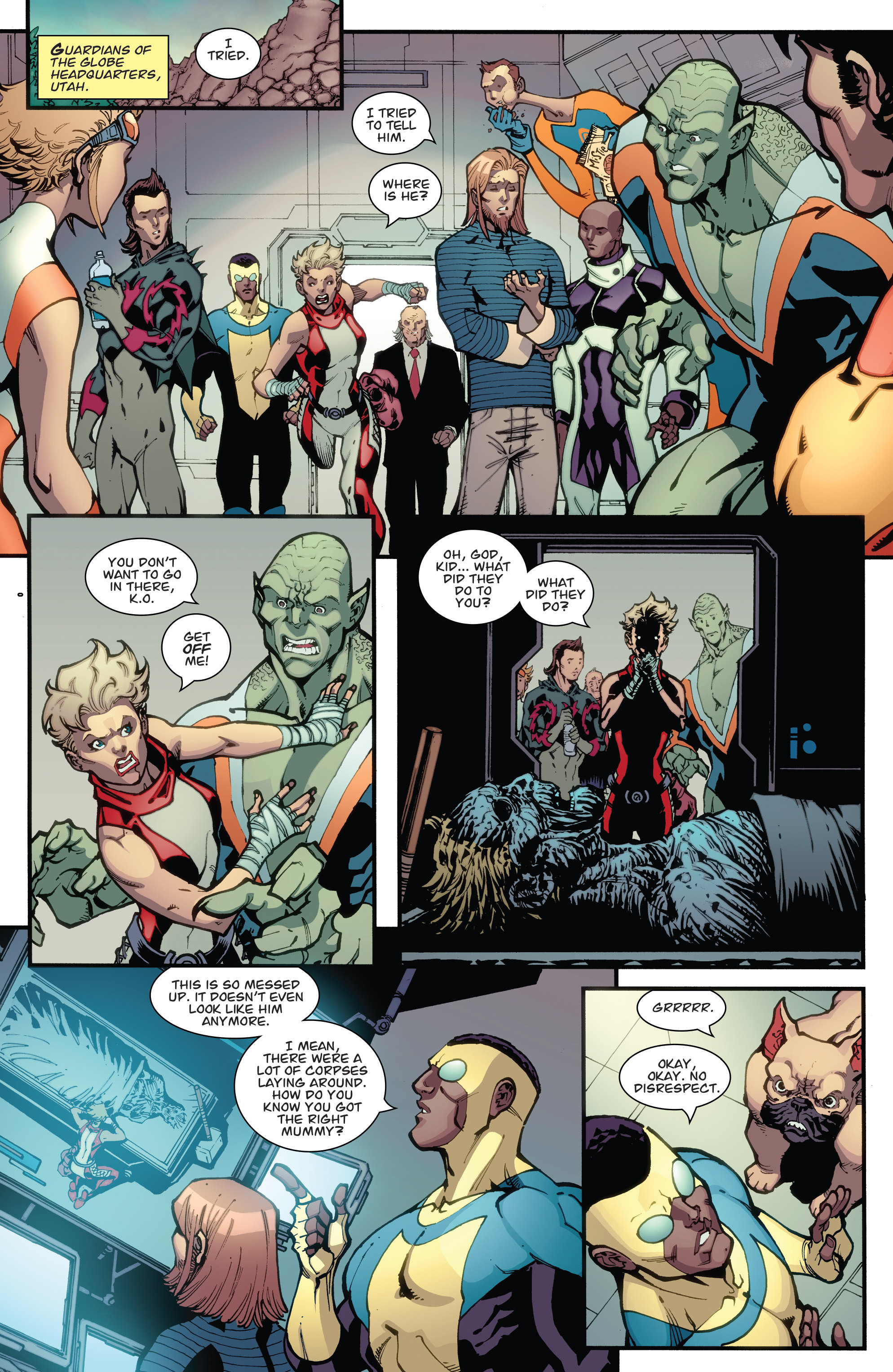 Read online Guarding the Globe (2012) comic -  Issue #6 - 22