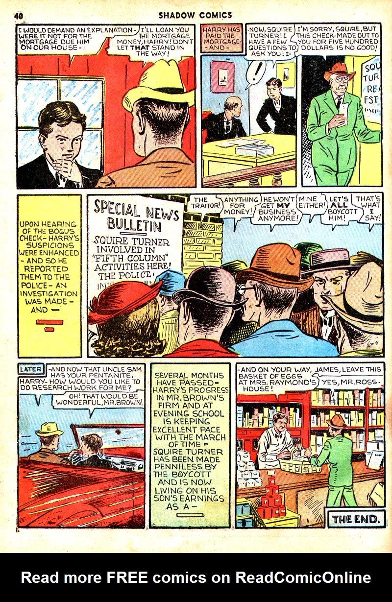 Read online Shadow Comics comic -  Issue #7 - 33