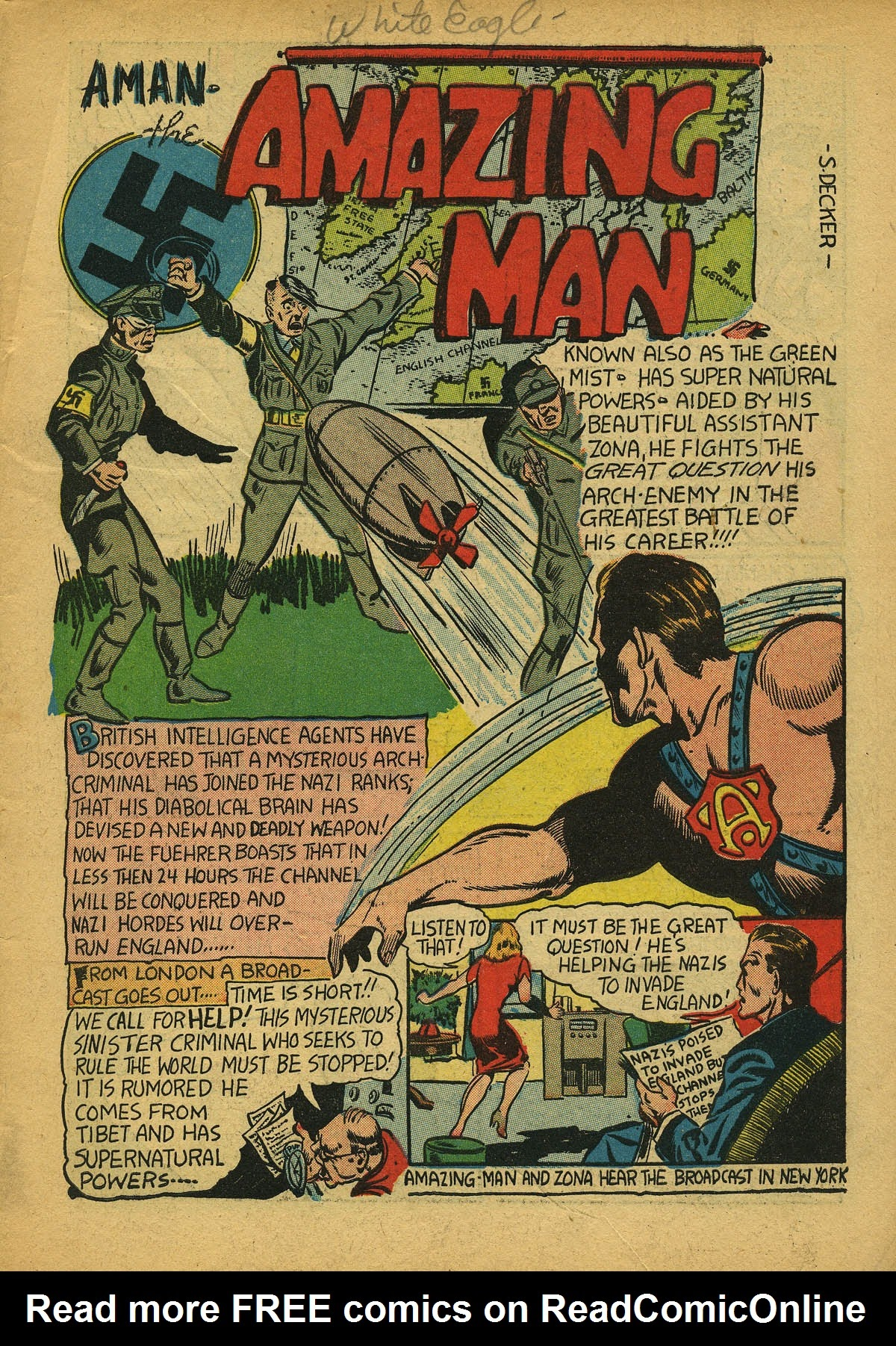 Read online Amazing Man Comics comic -  Issue #22 - 4