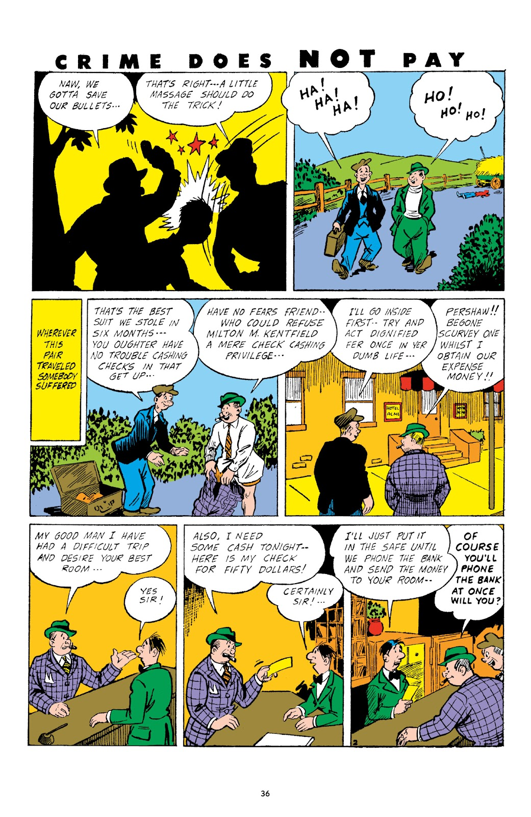 Read online Crime Does Not Pay Archives comic -  Issue # TPB 3 (Part 1) - 36