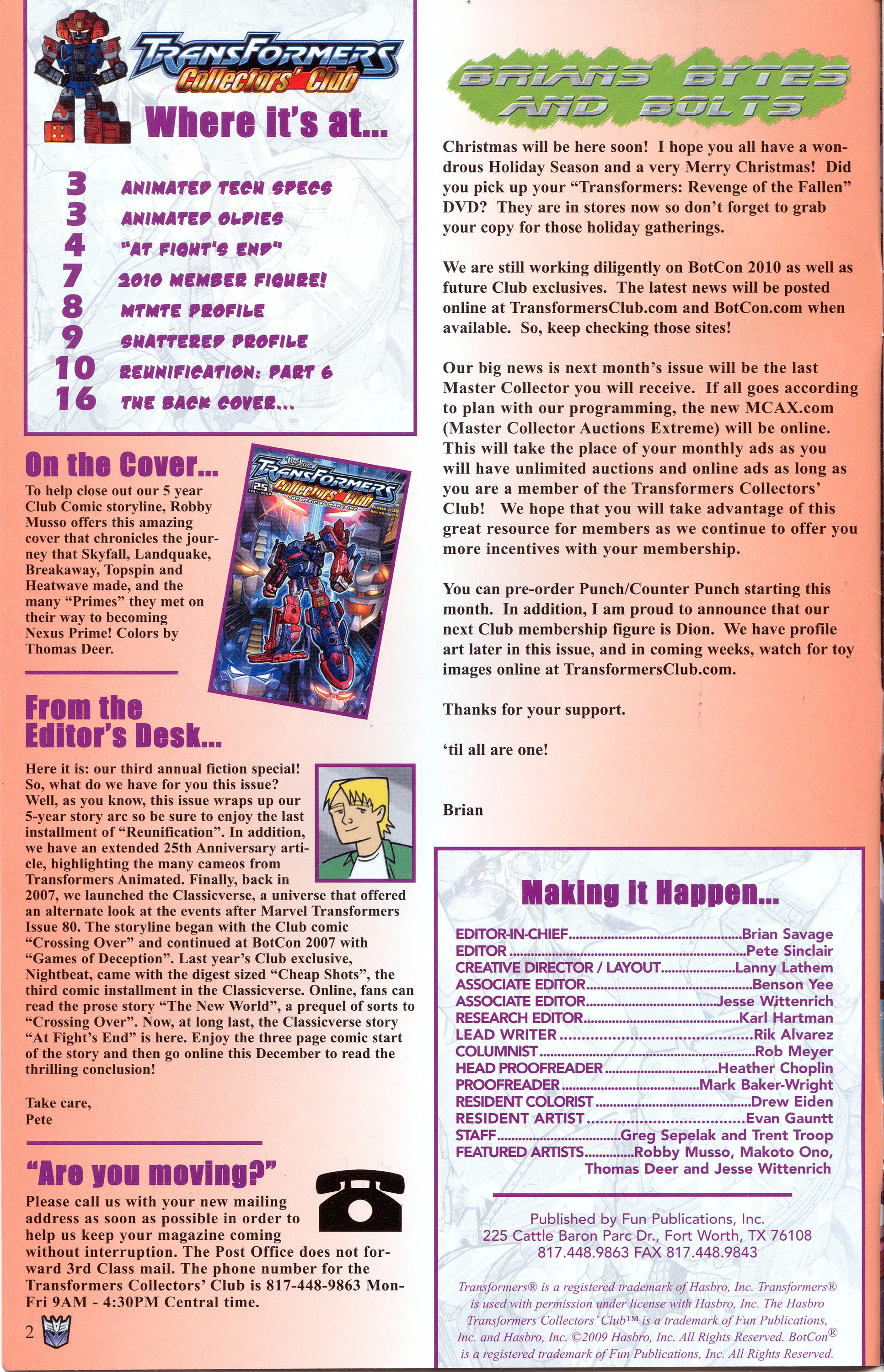 Read online Transformers: Collectors' Club comic -  Issue #30 - 2