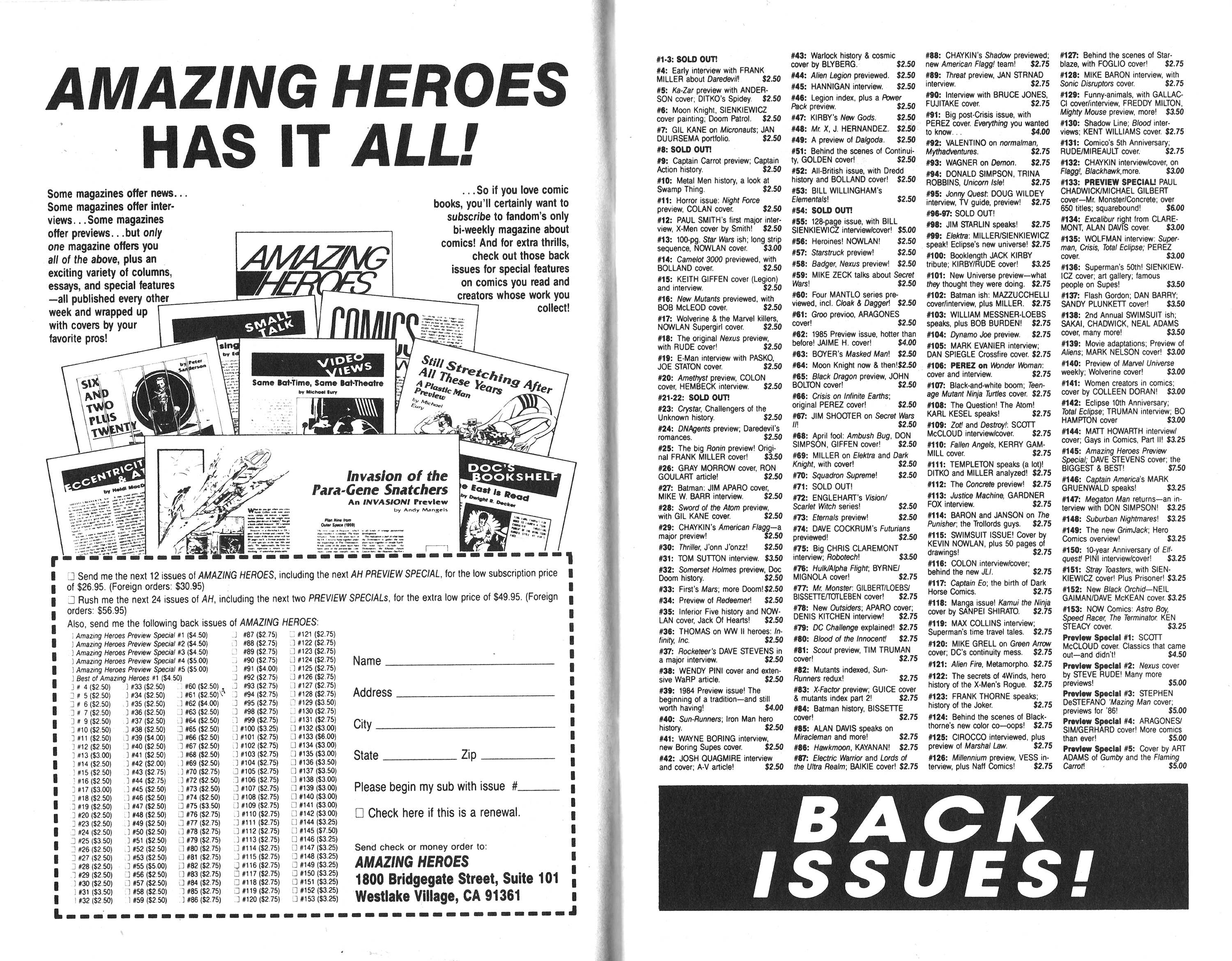 Read online Amazing Heroes comic -  Issue #154 - 8