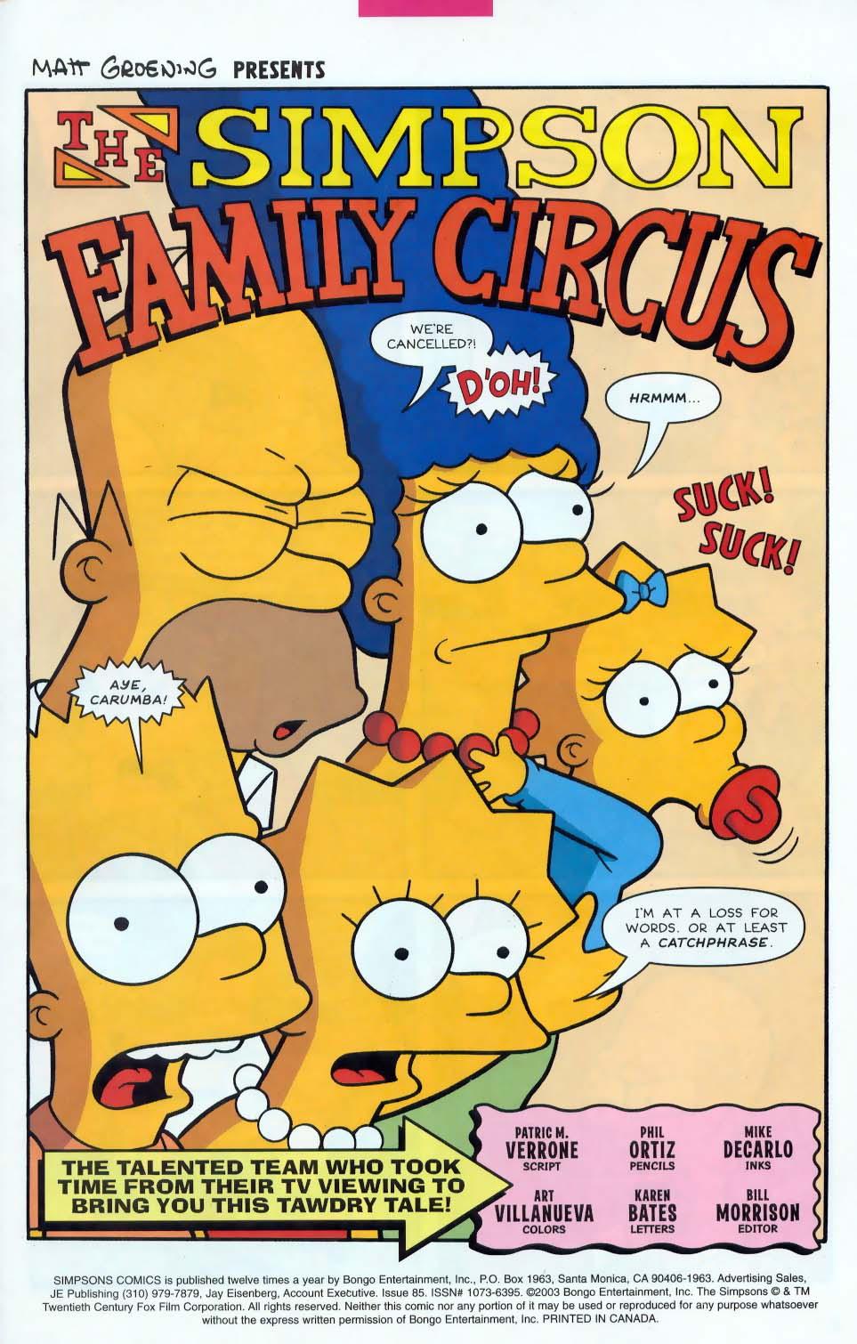 Read online Simpsons Comics comic -  Issue #85 - 2
