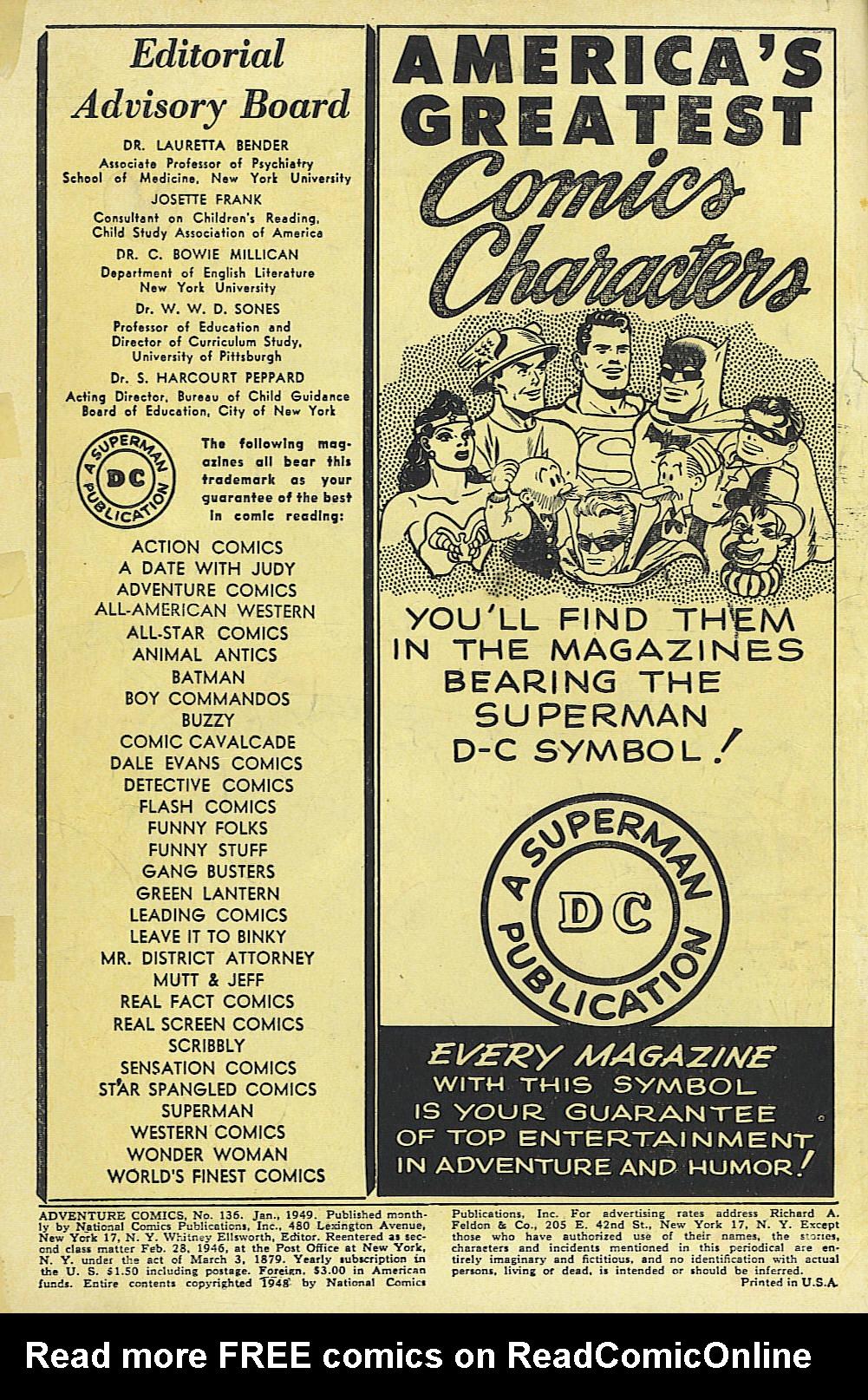 Read online Adventure Comics (1938) comic -  Issue #136 - 2