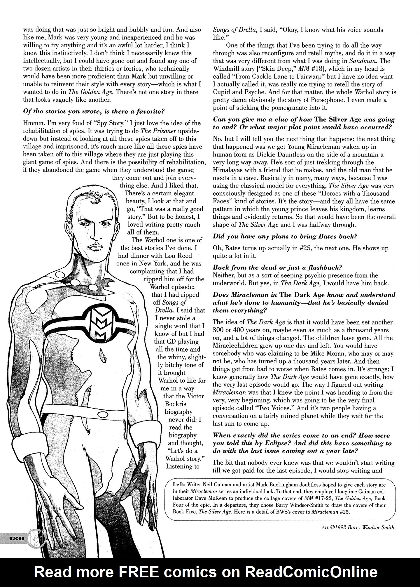 Read online Kimota!: The Miracleman Companion comic -  Issue # Full - 121
