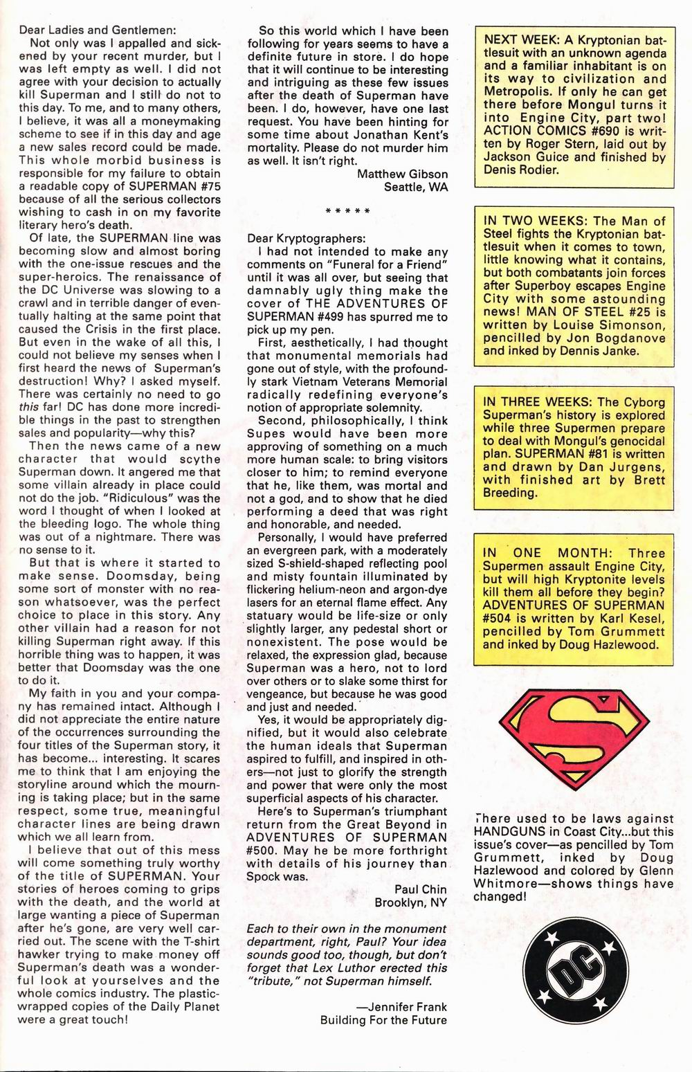 Read online Adventures of Superman (1987) comic -  Issue #503 - 25