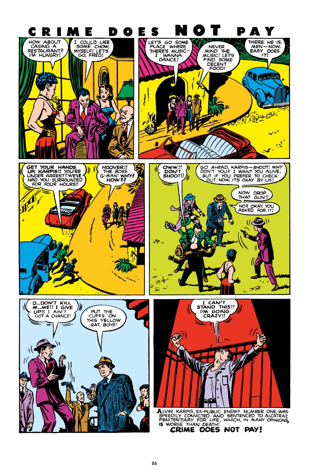 Read online Crime Does Not Pay Archives comic -  Issue # TPB 10 (Part 1) - 88