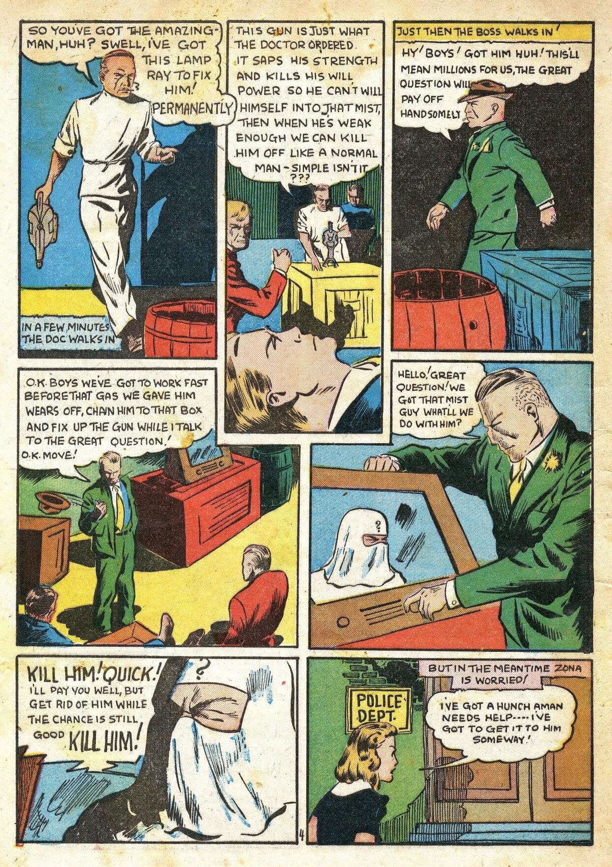 Read online Amazing Man Comics comic -  Issue #16 - 6