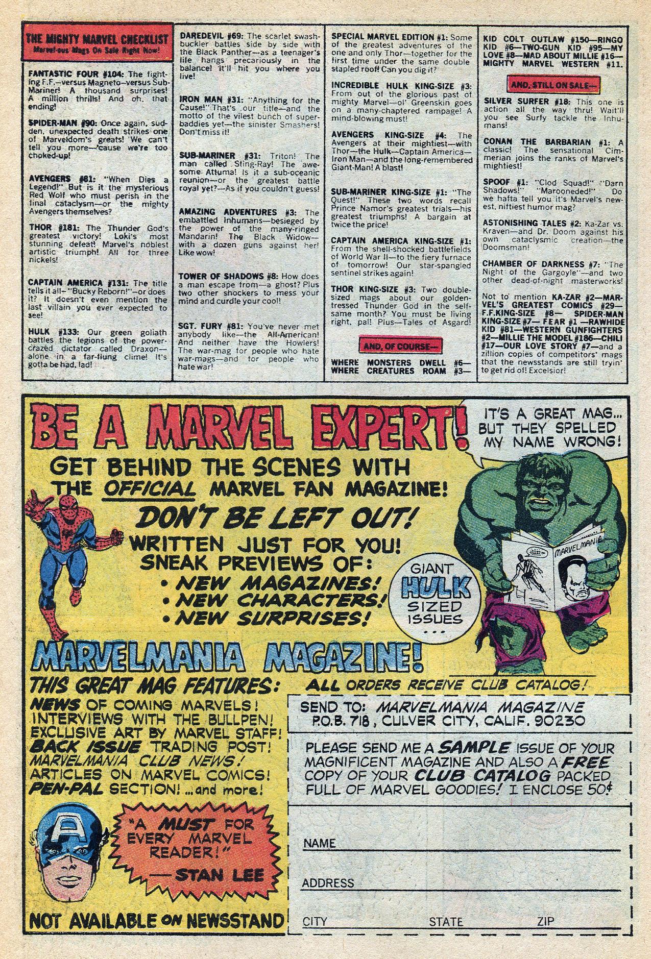 Read online Amazing Adventures (1970) comic -  Issue #3 - 10