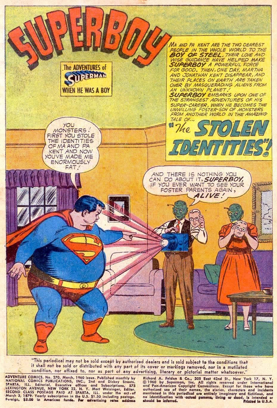 Read online Adventure Comics (1938) comic -  Issue #270 - 3