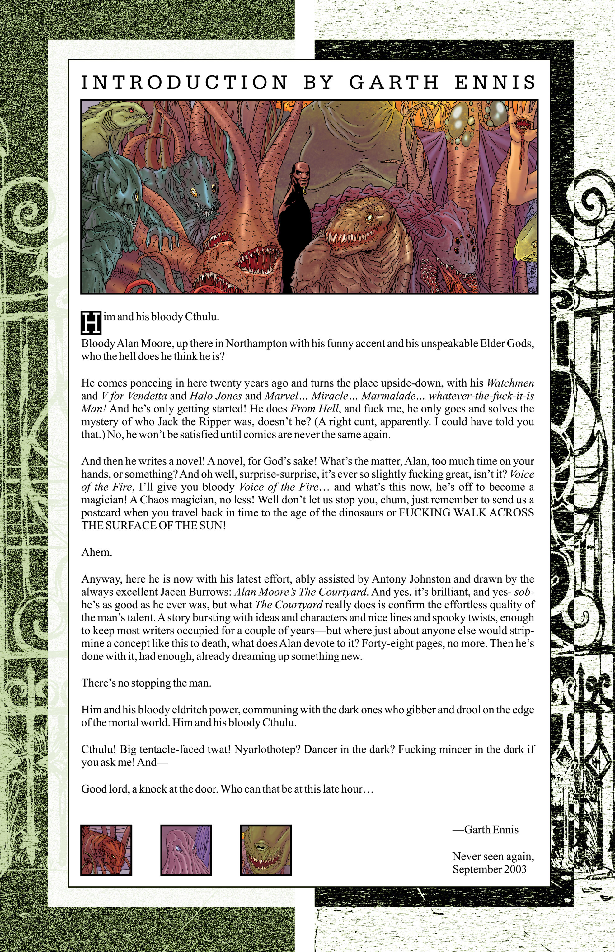 Read online Alan Moore's The Courtyard comic -  Issue # TPB - 3