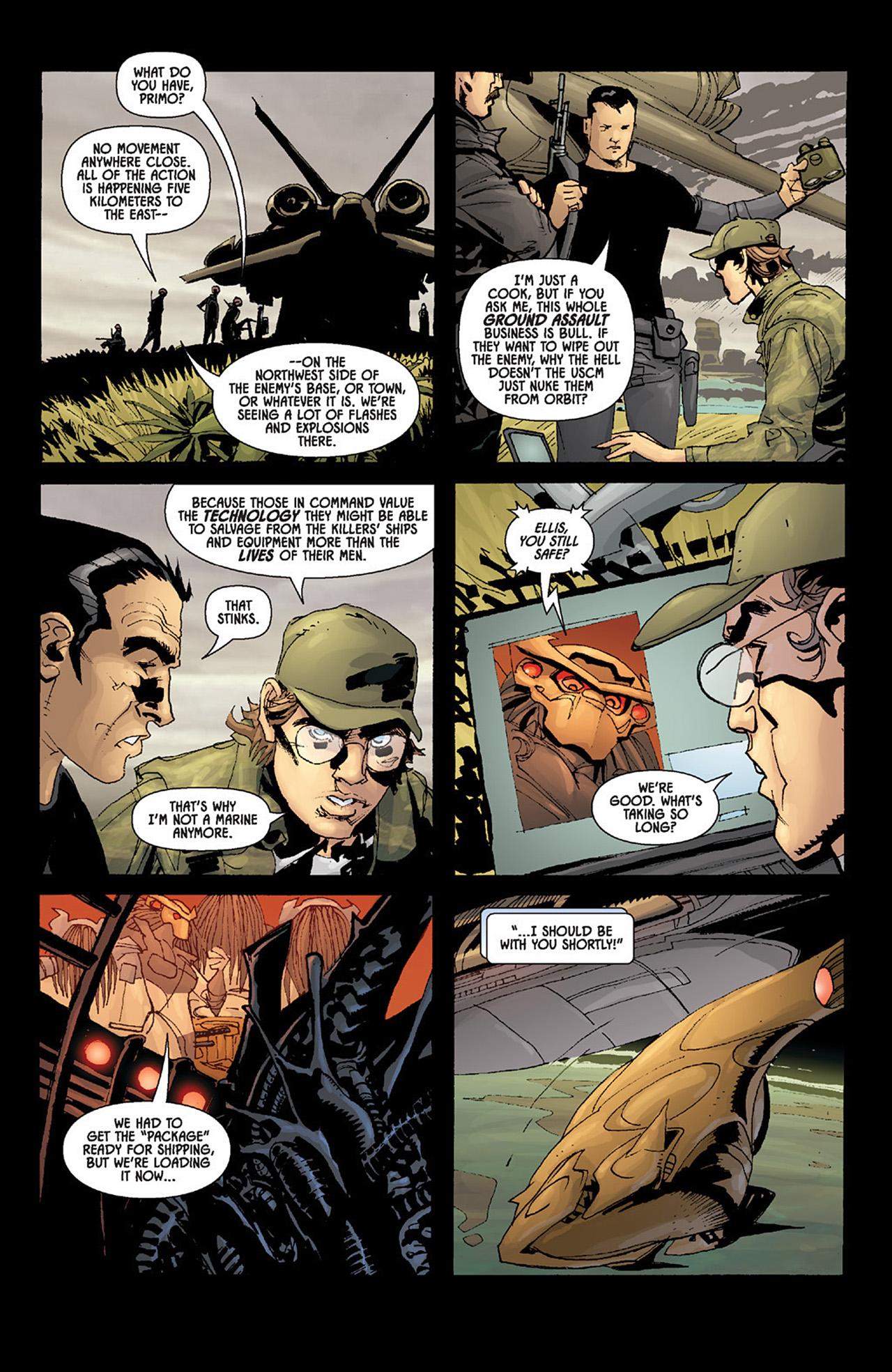 Read online Aliens vs. Predator: Three World War comic -  Issue #6 - 7