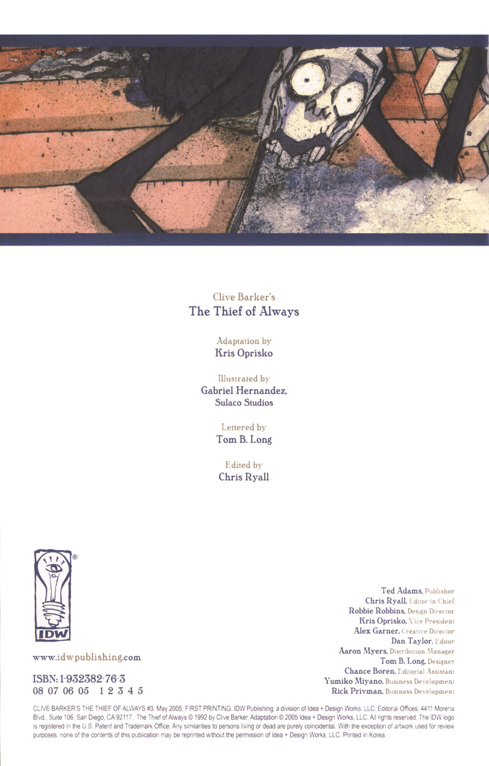 Read online Clive Barker's The Thief Of Always comic -  Issue #3 - 3