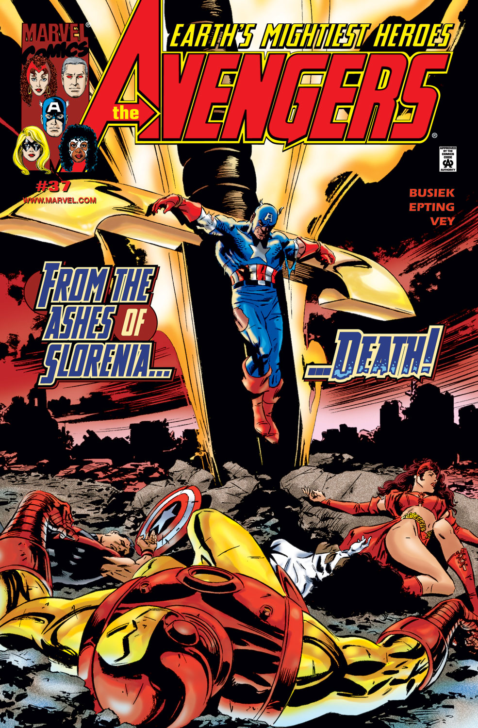 Read online Avengers (1998) comic -  Issue #37 - 1