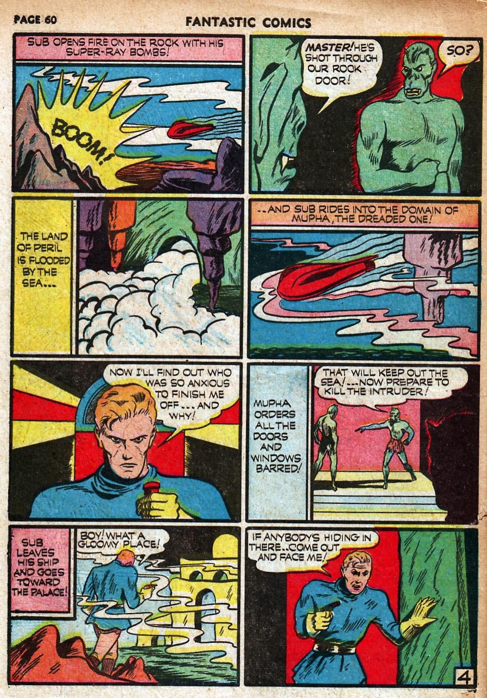Read online Fantastic Comics comic -  Issue #18 - 62