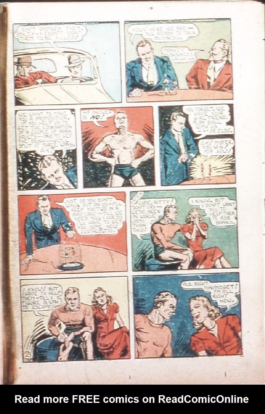 Read online Amazing Man Comics comic -  Issue #9 - 38