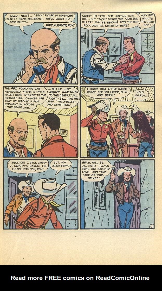 Read online Roy Rogers comic -  Issue #4 - 21