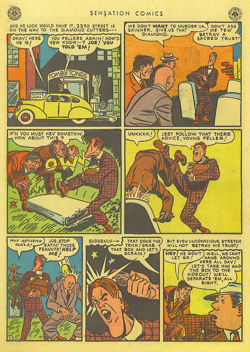 Read online Sensation (Mystery) Comics comic -  Issue #39 - 46