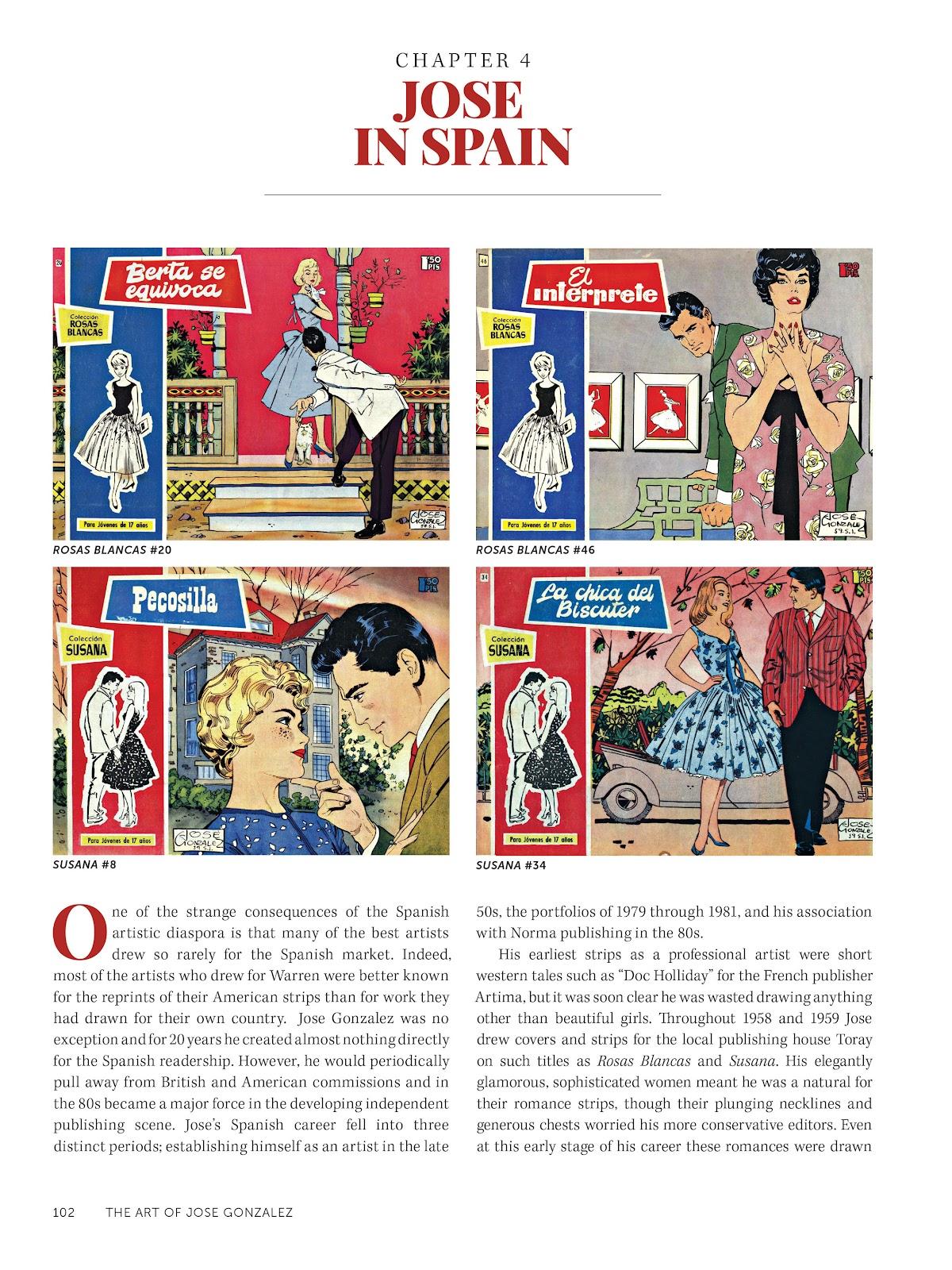 Read online The Art of Jose Gonzalez comic -  Issue # TPB (Part 2) - 4