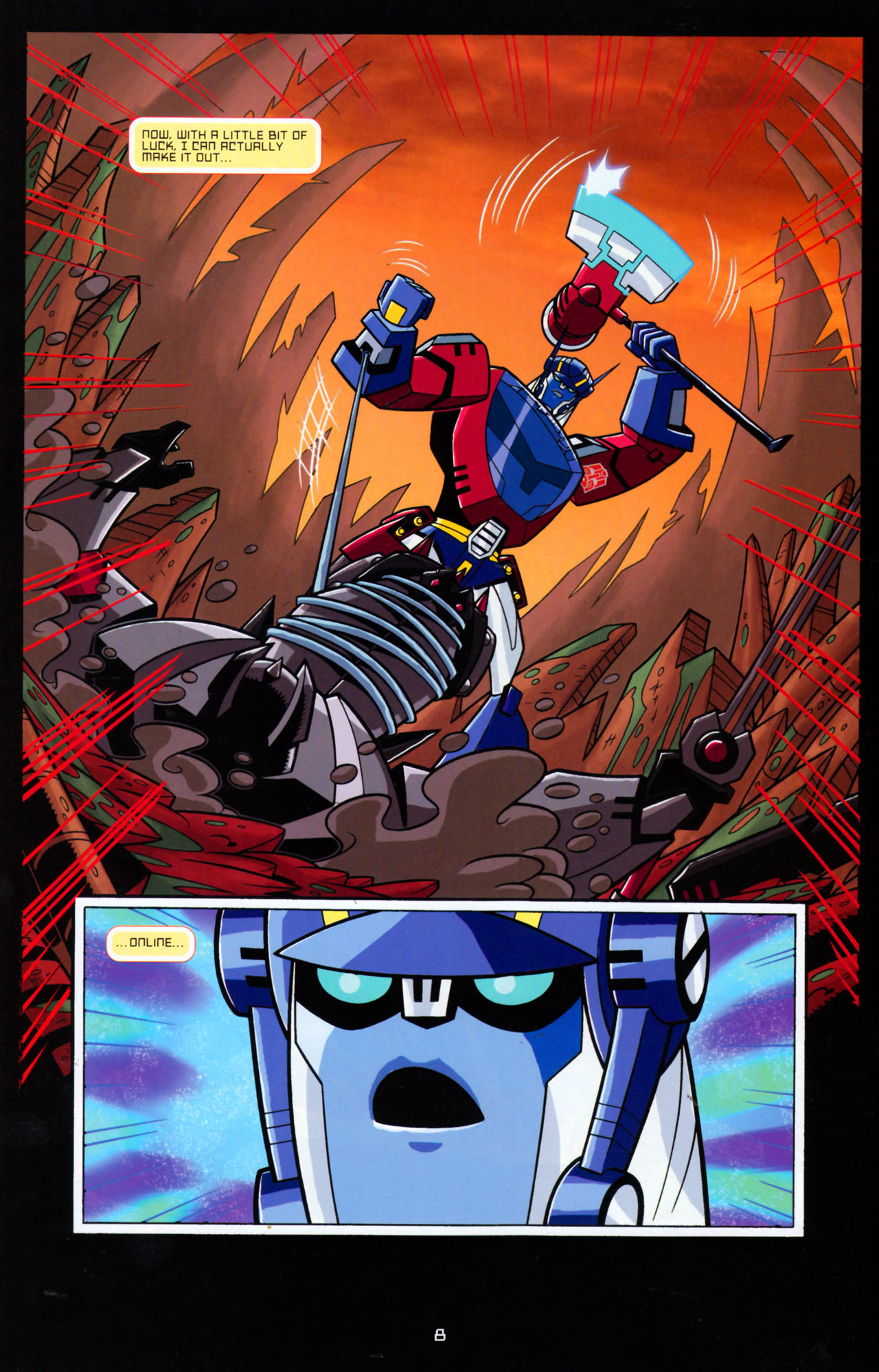 Read online Transformers Animated: The Arrival comic -  Issue #5 - 12