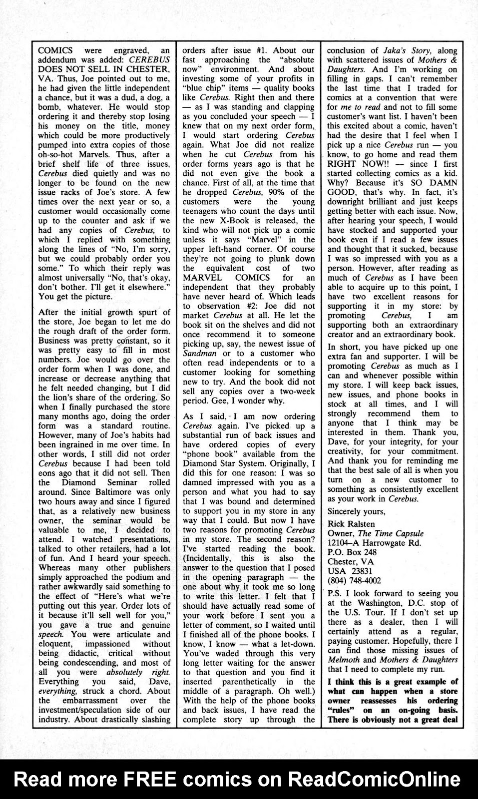 Cerebus Issue #163 #162 - English 27