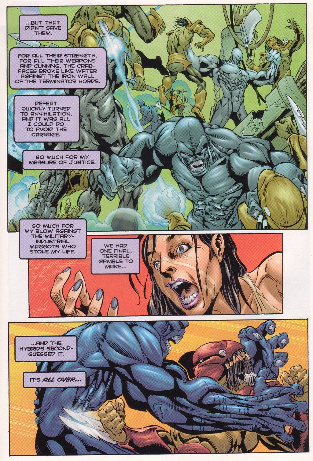 Read online Aliens vs. Predator vs. The Terminator comic -  Issue #4 - 9