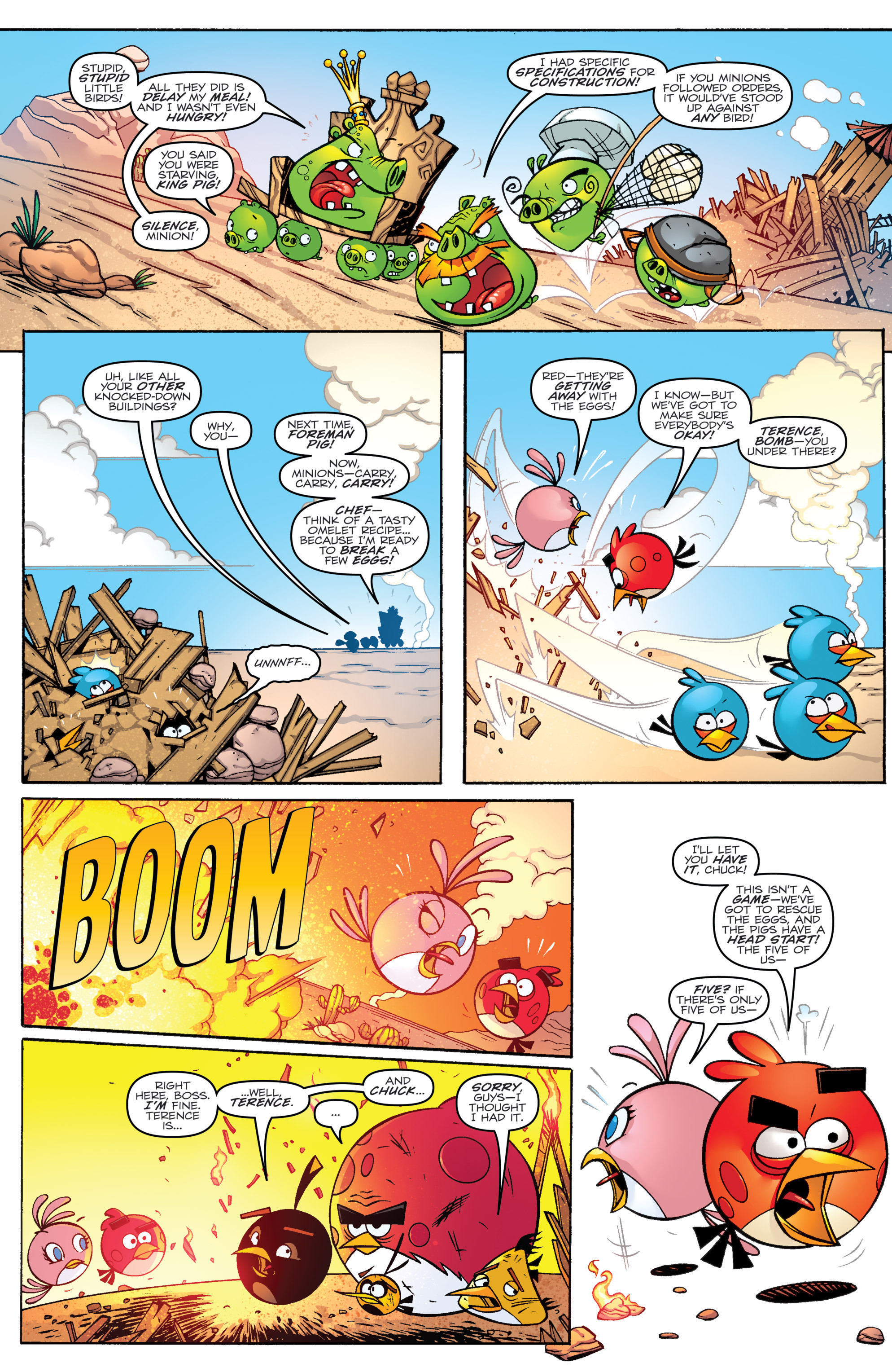 Read online Angry Birds Transformers comic -  Issue #1 - 10