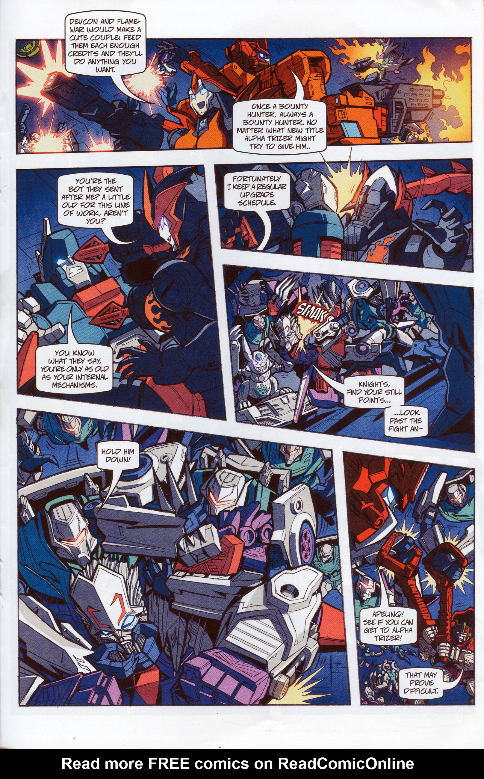 Read online Transformers: Timelines comic -  Issue #10 - 19